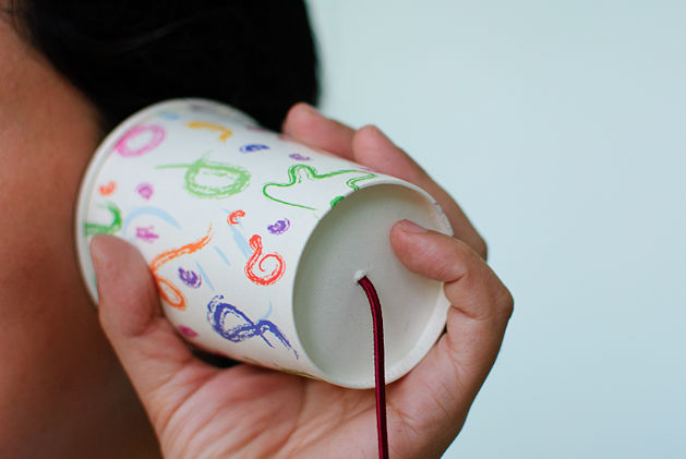 cup and string