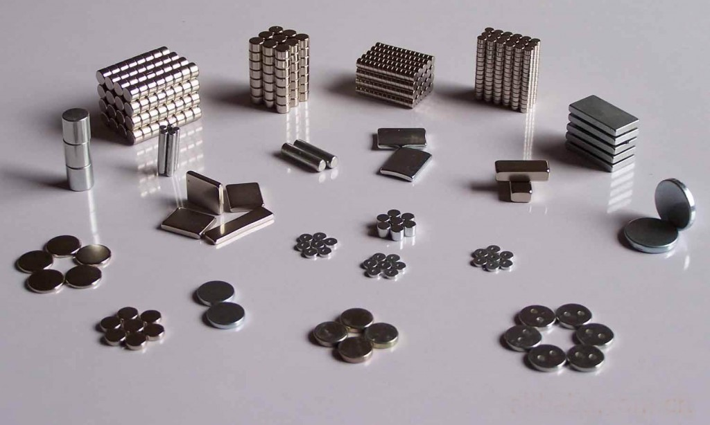 different shaped and sized magnets