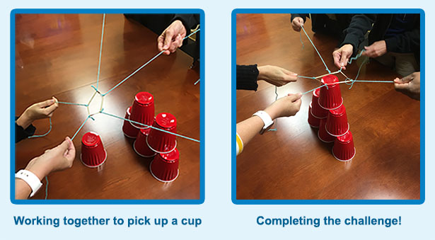 cup and strings activity