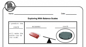 balance scales worksheet